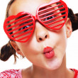 Little girl with shutter shades — Stock Photo