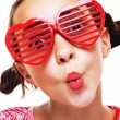 Stock Photo: Little girl with shutter shades