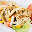 Chicken and vegetable salad - Stock Photo