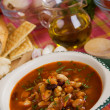 Kidney bean soup - Stock Photo