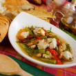 Stock Photo: Chicken and vegetable soup