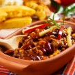 Mexican chili con carne — Stock Photo