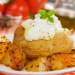 Roasted and baked potato — Stock Photo