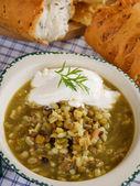 Linzen, granen en bonen soep — Stockfoto