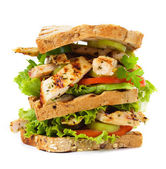 Grilled chicken sandwich — Stock Photo