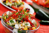 Cheese and vegetable salad — Stock Photo