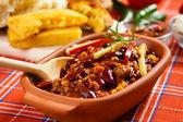 Mexické chilli con carne — Stock fotografie