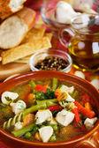 Pollo y sopa de verduras — Foto de Stock