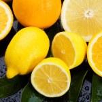 citroen-, sinaasappel- en grapefruitsap — Stockfoto
