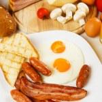 Traditional english breakfast — Stock Photo