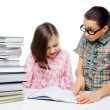 Stock Photo: Two young students learning