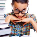 junges Mädchen lernen — Stockfoto