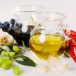 Foto Stock: Olive oil and balsamic vinegar