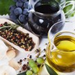 Stock Photo: Olive oil and balsamic vinegar