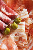 Prosciutto and bacon — Stock Photo