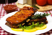Barbecued pork ribs — Stockfoto