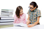 Two young students learning — Stock Photo