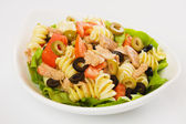 Tuna and pasta salad — Stock Photo