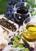 Olive oil and balsamic vinegar — Stockfoto