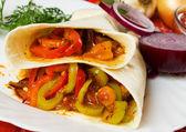 Vegetarische taco schelpen — Stockfoto