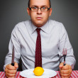 Businessman on a diet — Stock Photo