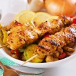 Grilled chicken meat and vegetables — Stock Photo #5051165