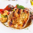 Grilled pork loin chops — Stock Photo