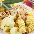 Italian pasta with chicken meat and cauliflower — Stock Photo #5052574