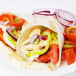 Chicken salad in tortilla wraps — Stock Photo
