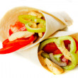 Stock Photo: Chicken salad in tortilla wraps