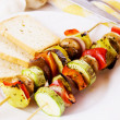 Grilled vegetables on skewer — Stock Photo