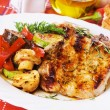 Stock Photo: Grilled pork loin chops