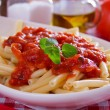 Macaroni pasta with tomato sauce and oregano — ストック写真 #5054539