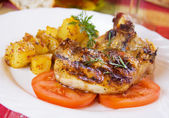 Grilled pork loin chop — Stock Photo