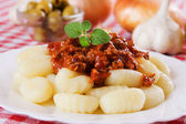 Gnocchi di patata, italian potato noodles — Stock Photo