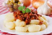 Gnocchi di patata, italian potato noodles — Stock Photo