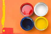 Colorful paint can — Stock Photo