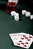 Look vintage poker gear — Foto de Stock