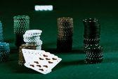 Poker gear vintage colors — Stock Photo