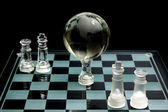 Chess globe — Stock Photo