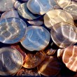 Euro coins under water — Stock Photo