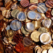 Stock Photo: Euro coins under water