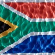 Stock Photo: South africflag under water
