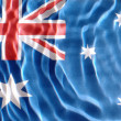 Stock Photo: Australiflag under water