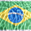 Stock Photo: Brazil flag under water