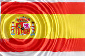 Spain flag under water — Stock Photo