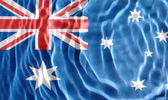 Australian flag under water — Stock Photo