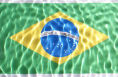 Brazil flag under water — Stok fotoğraf