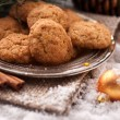 Santa Clause almond cookies — Stock Photo