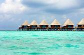 Maldives. Villa on piles on water — Stock Photo